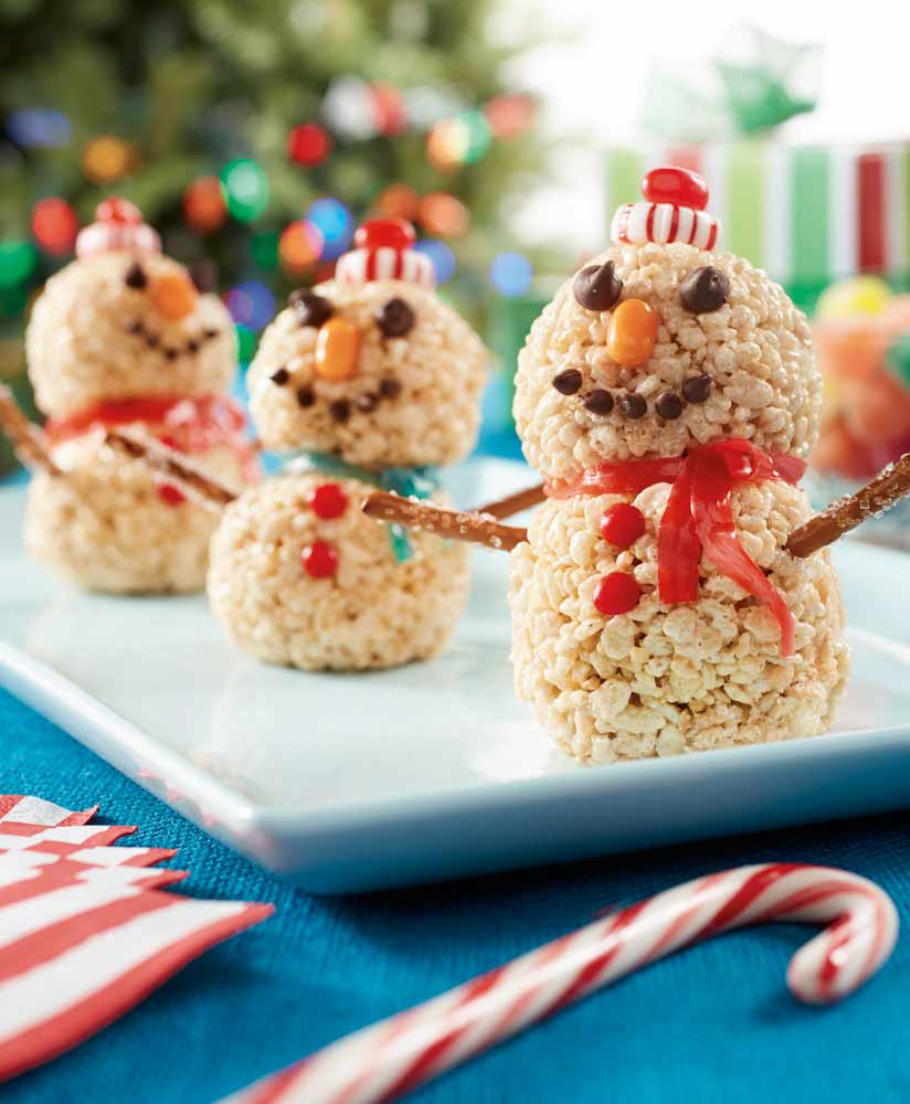 Rice Crispy Treat Christmas.Rice Krispies Snowman